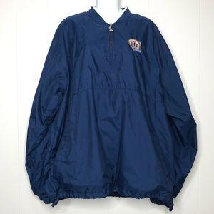Other - SPOTLIGHT Navy Miller Light Racing 1/4 Zip Jacket